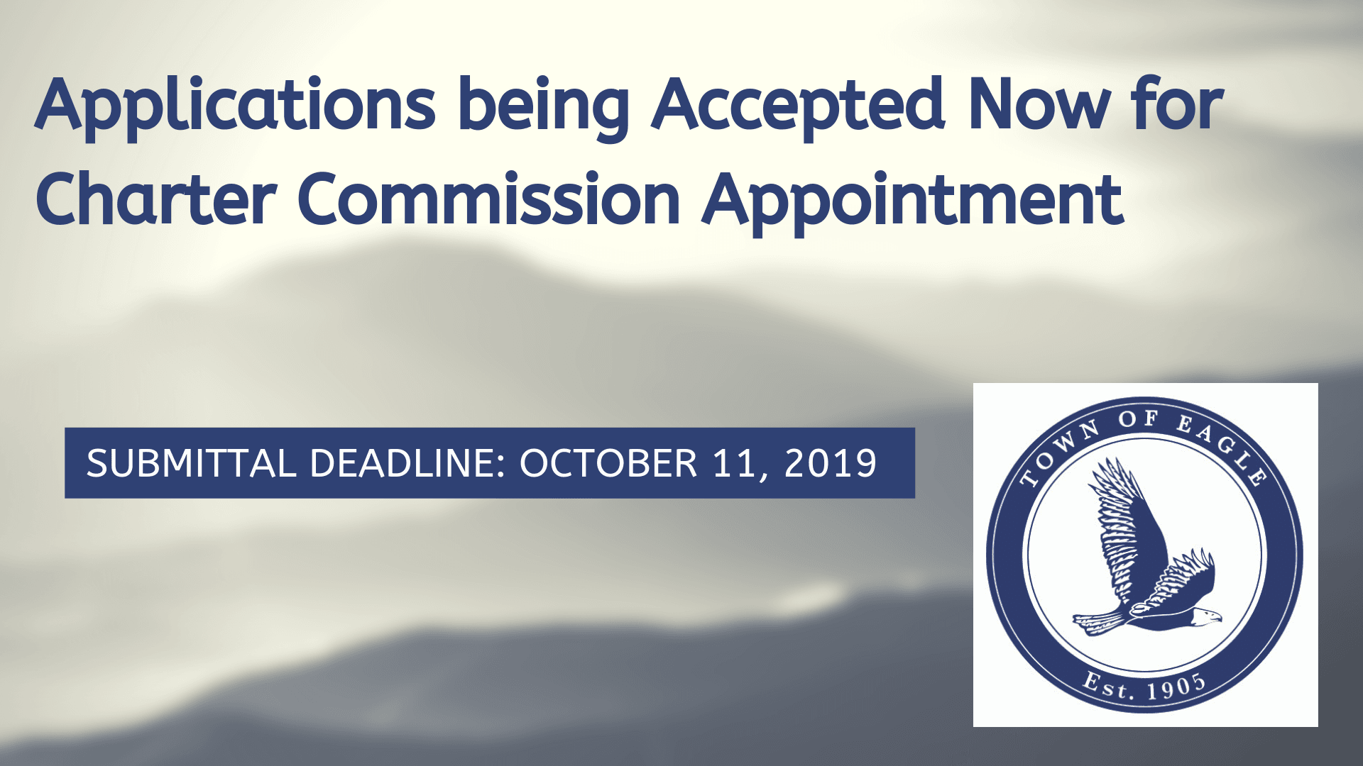 Applications being Accepted Now for Charter Commission Appointment (2)