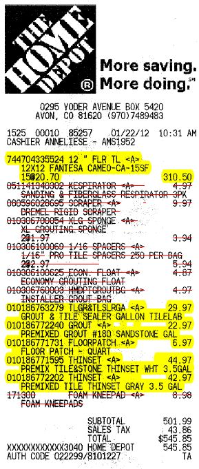 Home Depot Receipt Codes Related Keywords & Suggestions - Home ...